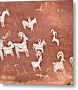 Wolfe Ranch Petroglyphs Metal Print
