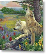 Wolves In The Spring Metal Print