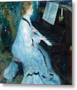 Woman At The Piano Metal Print