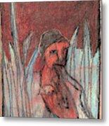 Woman In Reeds Metal Print