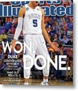 Won. Done. 2015 Ncaa Champions Sports Illustrated Cover Metal Print
