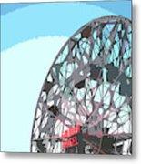 Wonder Wheel On Blue Metal Print
