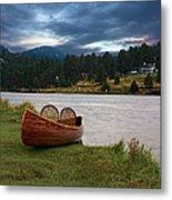 Wood Canoe Metal Print