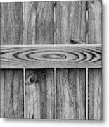 Wood Grain Black And White Metal Print