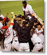 World Series Red Sox V Cardinals Game 4 Metal Print