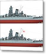 Yamato Class Battleships Port Side Metal Print
