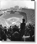 Yankee Stadium Is Packed For The New Y Metal Print
