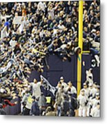 Yankees Fans Reach Out To Touch Metal Print