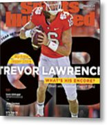 Year Of The Qb Clemson University Trevor Lawrence, 2019 Sports Illustrated Cover Metal Print