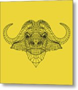 Yellow Buffalo Metal Print