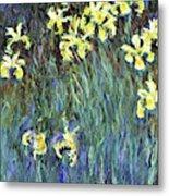 Yellow Irises - Digital Remastered Edition Metal Print