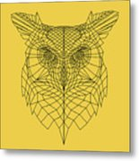 Yellow Owl Metal Print