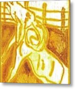 Yellow Ram Metal Print