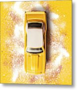 Yellow Street Machine Metal Print