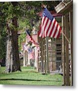 Yellowstone Flags Metal Print