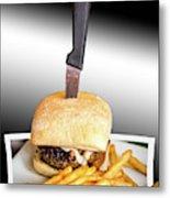 Yopper Burger Metal Print