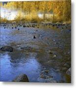 Yosemite River In Yellow Metal Print