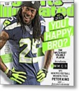 You Happy, Bro The Nfls Most Voluble Player Sports Illustrated Cover Metal Print