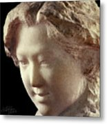 Young Girl-part-arttopan Carving-realistic Stone Sculptures-marble Metal Print