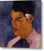 Young Man With A Flower Behind His Ear 1891 Metal Print