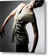 Young Woman Performing Dance Metal Print