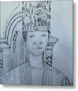 Young His Royal Highness Kabaka Ssabasajja Ronald Edward Frederick Kimera Muwenda Mutebi II  Metal Print