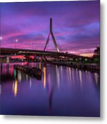 Zakim Sunset Metal Print