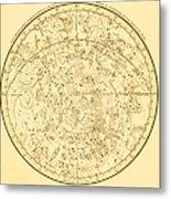 Zodiac Map Metal Print