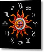 Zodiac Transparent Metal Print