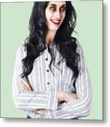 Zombie Businesswoman Metal Print