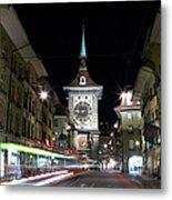 Zytglogge Tower At Night Metal Print