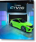 Automakers Showcase New Models At New York International Auto Show Metal Print