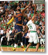 Avery Bradley and Lebron James Metal Print