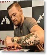 Conor McGregor DVD Signing Metal Print