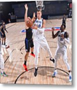 Dallas Mavericks v LA Clippers - Game One Metal Print