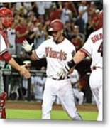 David Peralta and Paul Goldschmidt Metal Print