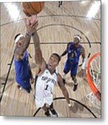 Denver Nuggets v San Antonio Spurs Metal Print