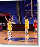 Draymond Green and Stephen Curry Metal Print