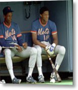 Dwight Gooden and Darryl Strawberry Metal Print