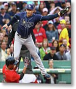 Evan Longoria and Xander Bogaerts Metal Print