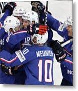 Finland v France - 2017 IIHF Ice Hockey World Championship Metal Print