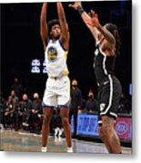 Golden State Warriors v Brooklyn Nets Metal Print