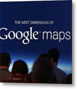 Google Holds News Conference Metal Print