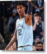 Houston Rockets v Memphis Grizzlies Metal Print