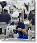 Inside The Vietnam-Singapore Industrial Park As Most Companies Affected By Anti-China Protests Resume Operations Metal Print