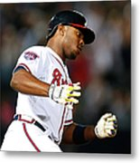 Justin Upton and Jason Heyward Metal Print