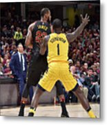 Lance Stephenson and Lebron James Metal Print