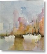 Low Country Shrimpers Metal Print