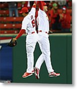 Matt Holliday and Jon Jay Metal Print