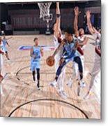Memphis Grizzlies v Portland Trail Blazers Metal Print